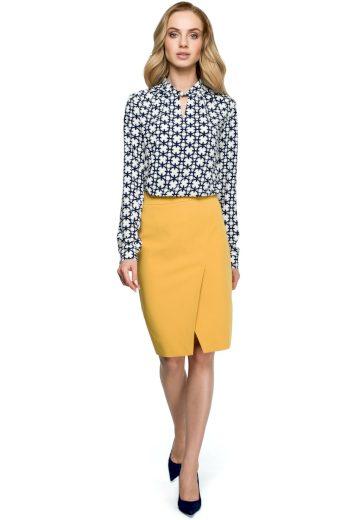 Elegantní sukně Style S127 žlutá