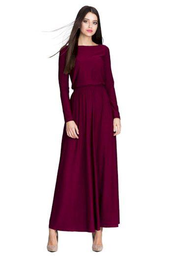 Dlouhé šaty Figl M604 bordó