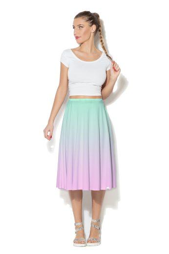 Duhová široká sukně Color Pleasure