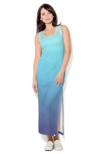 Modré dlouhé šaty Color Pleasure