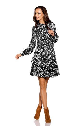 Romantické šaty Lemoniade L281 s puntíky