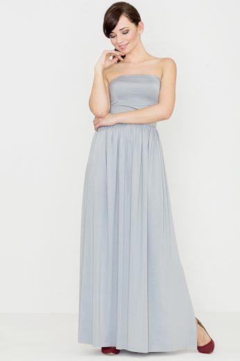 Dlouhé šaty Lenitif K252 šedé