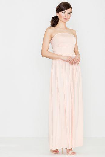 Dlouhé šaty Lenitif K252 růžové