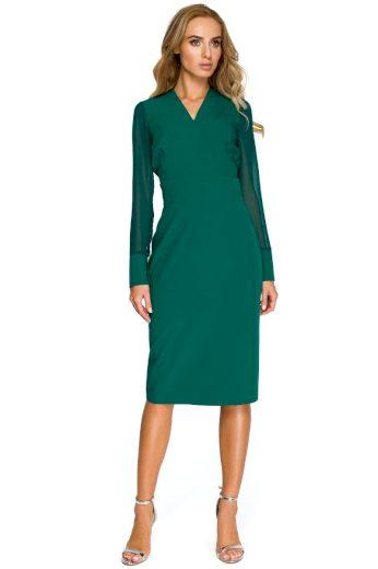 Elegantní šaty Style S136 zelené