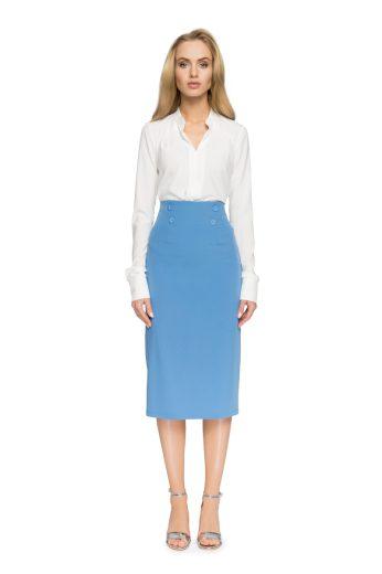Elegantní pouzdrová sukně Style S065 modrá