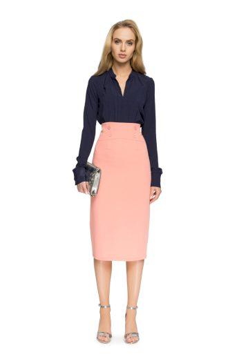 Elegantní pouzdrová sukně Style S065 lososová