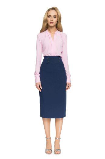 Elegantní pouzdrová sukně Style S065 tmavě modrá