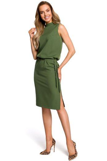 Elegantní šaty MOE M423 zelené
