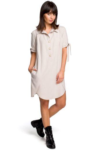 Letní košilové šaty Be B112 béžové