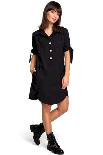 Letní košilové šaty Be B112 černé