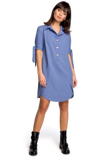 Letní košilové šaty Be B112 modré