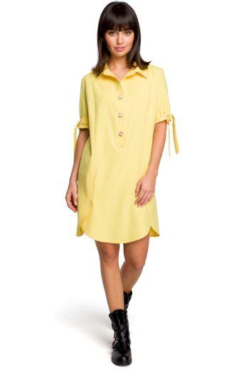 Letní košilové šaty Be B112 žluté