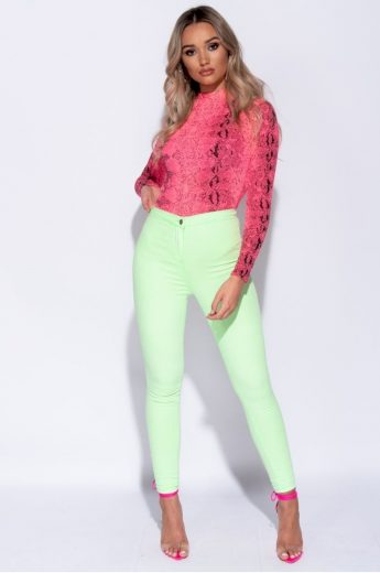 Zelené neonové džegíny