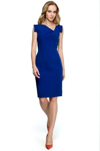 Elegantní šaty Style S121 modré