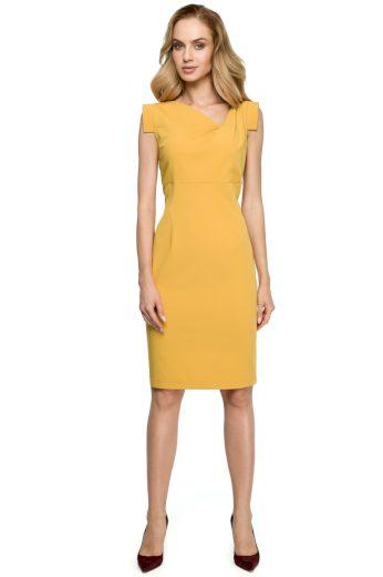 Elegantní šaty Style S121 žluté