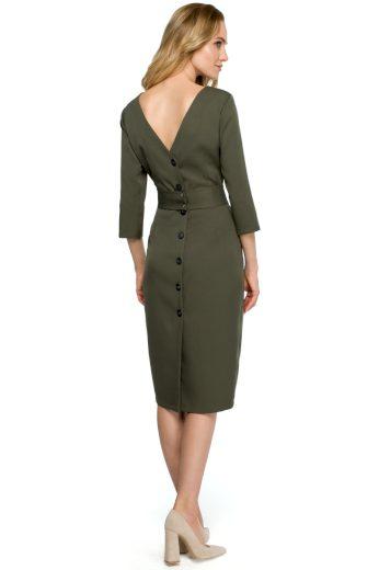 Elegantní šaty Style S119 khaki