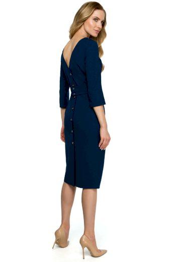 Elegantní šaty Style S119 modré