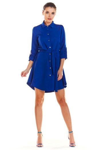 Lehounké košilové šaty InfiniteYou M200 modré