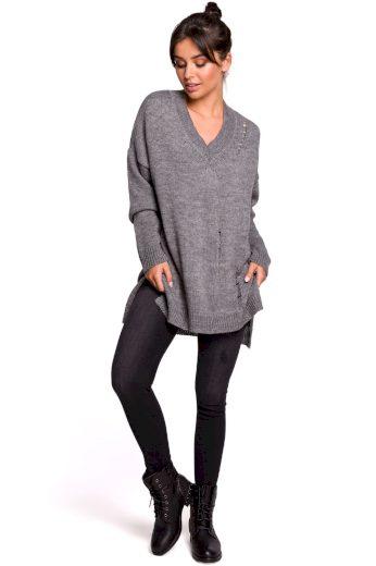 Dámský svetr Be BK028 šedý