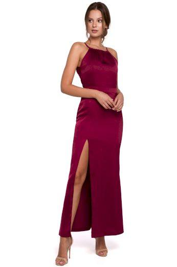 Dlouhé společenské šaty Makover K042 bordó