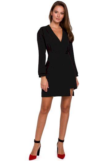 Elegantní sakové šaty Makover K034 černé