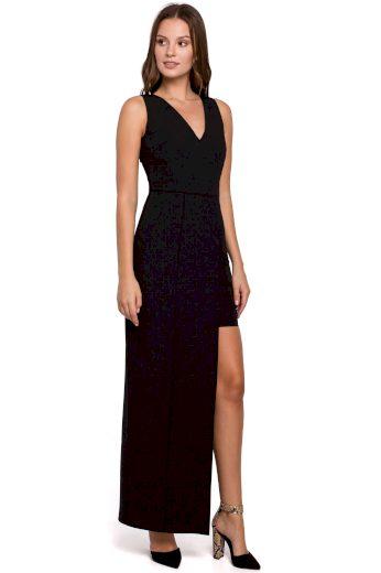 Dlouhé společenské šaty Makover K026 černé