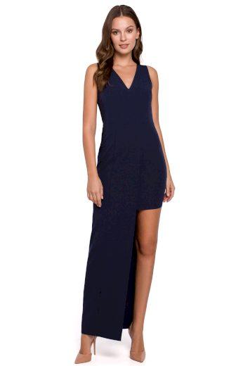 Dlouhé společenské šaty Makover K026 modré
