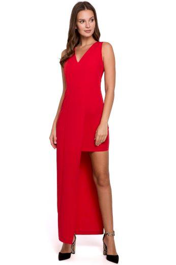 Dlouhé společenské šaty Makover K026 červené