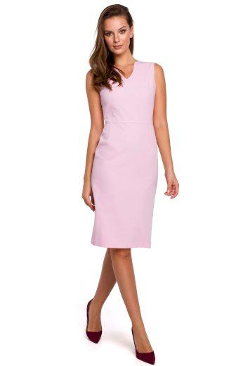 Elegantní šaty Makover K004 růžové