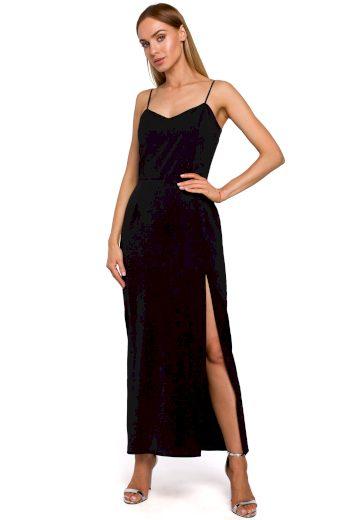 Elegantní plesové šaty MOE M485 černé