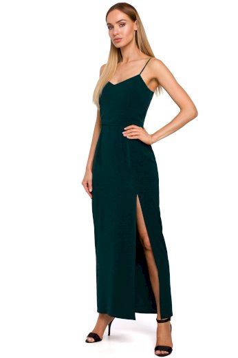Elegantní plesové šaty MOE M485 zelené