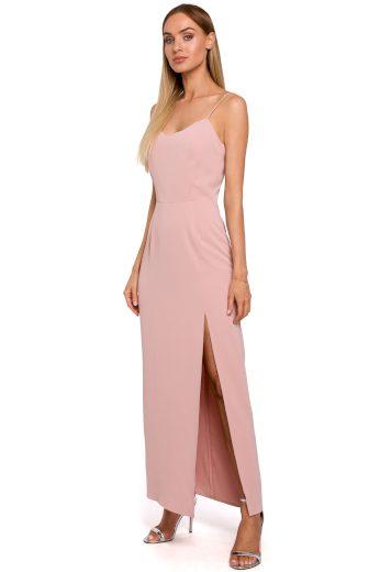 Elegantní plesové šaty MOE M485 růžové