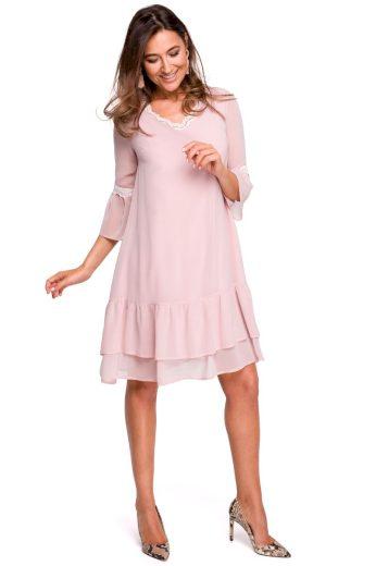 Lehounké společenské šaty Style S160 růžové