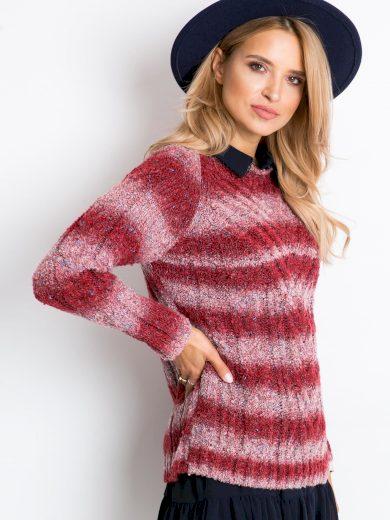 Červený melírovaný svetr Latynka Rave