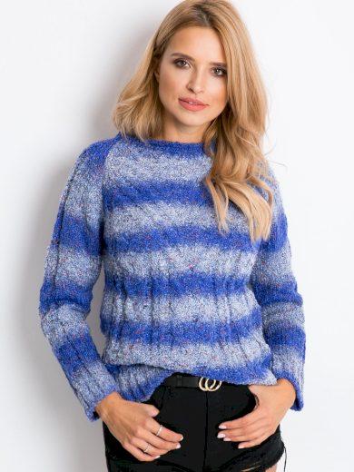 Modrý melírovaný svetr Latynka Rave