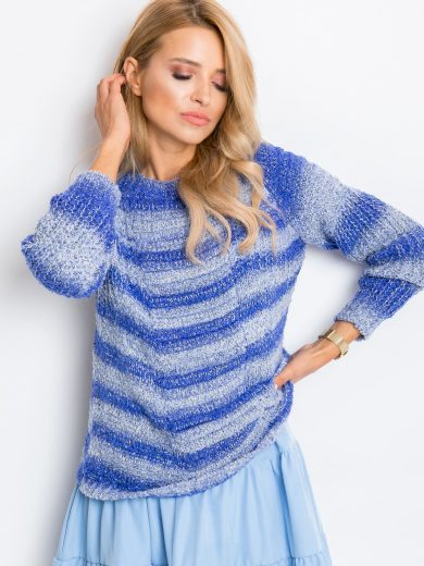 Modrý melírovaný svetr Latynka Getaway