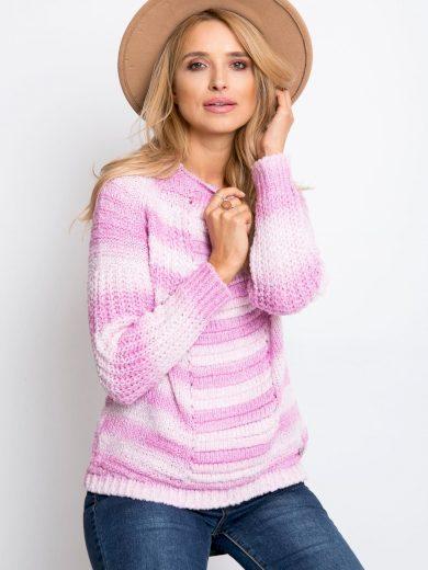 Růžový melírovaný svetr Latynka Getaway