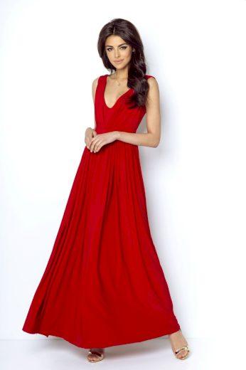 Dlouhé společenské šaty Ivon Rebeca červené