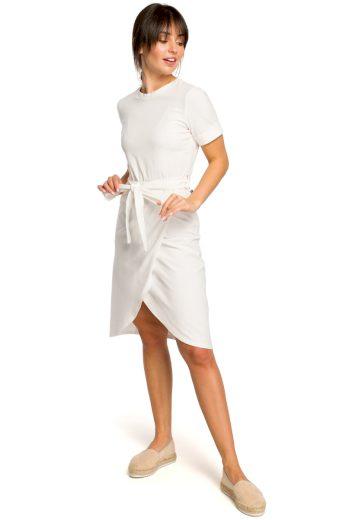 Letní šaty Be B118 smetanové