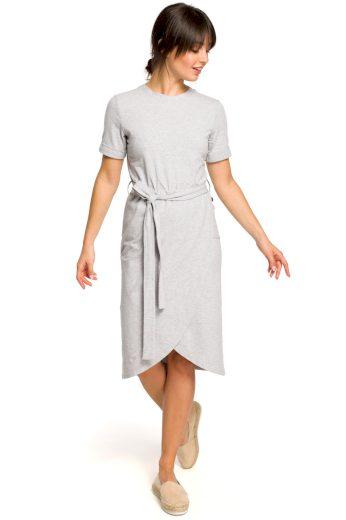 Letní šaty Be B118 šedé