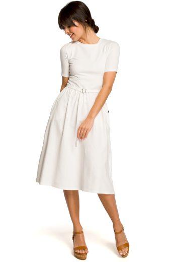 Letní šaty Be B120 smetanové