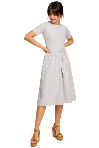 Letní šaty Be B120 šedé