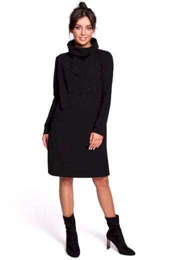 Šaty s rolákem Be B132 černé