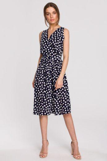 Letní zavinovací šaty Style S264 modré