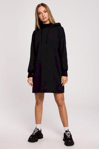 Sportovní bavlněné šaty MOE M615 černé