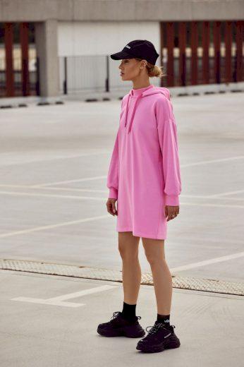 Sportovní bavlněné šaty MOE M615 růžové