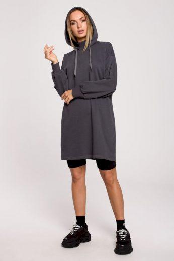 Sportovní bavlněné šaty MOE M615 šedé