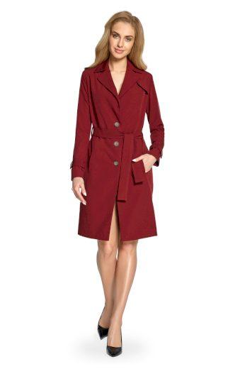 Elegantní jarní kabátek Style S094 bordó