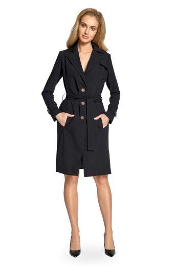 Elegantní jarní kabátek Style S094 černý