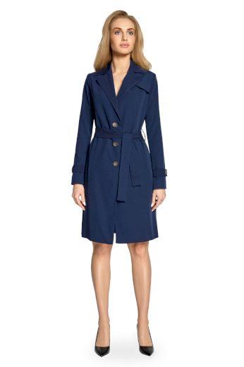 Elegantní jarní kabátek Style S094 modrý
